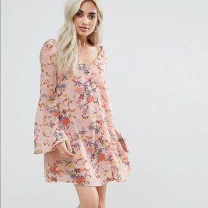 Asos Glamorous Petite Button Floral Dress size 0